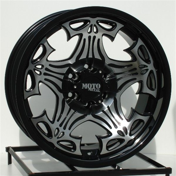 20 inch Black Wheels Rims Chevy GMC 6 Lug 1500 Truck