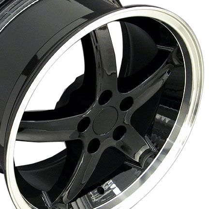 20 Black Cobra Style Wheels Set of 4 Rims Fit Mustang® GT